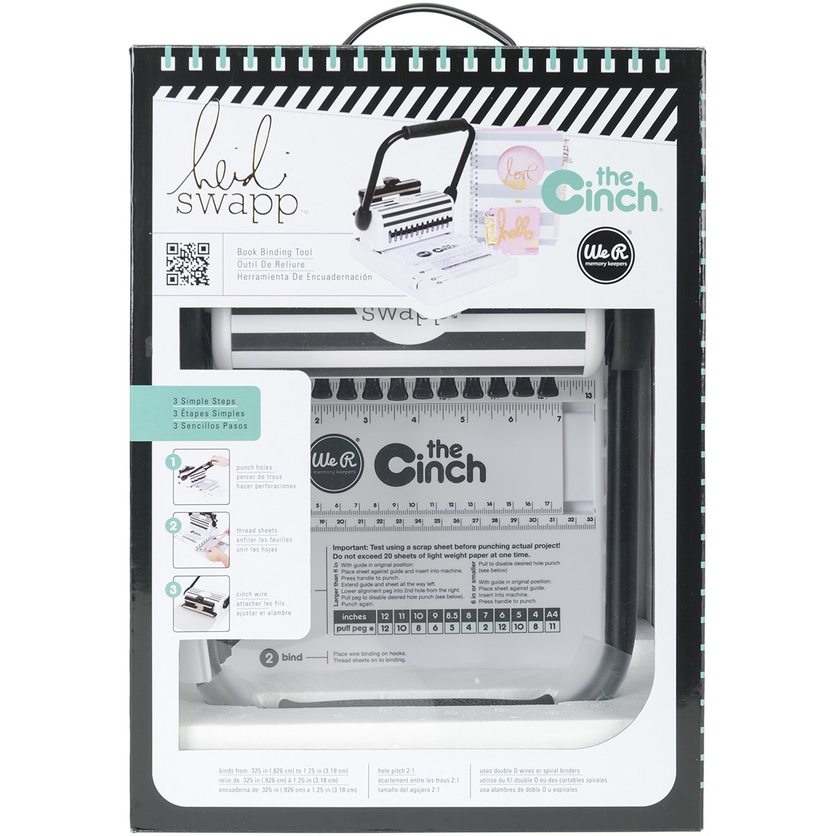 Heidi Swapp Cinch Book Binding Machine by We R Memory Keepers | Black and White by We R Memory Keepers