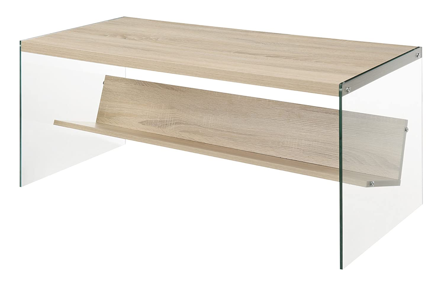 Convenience Concepts Soho Coffee Table, Weathered White