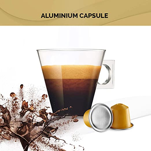 Imported SPANISH Coffee Espresso Compatible Nespresso Machine Aluminum Pods single cup (DECAFFEINATO, 40 Pods): Amazon.com: Grocery & Gourmet Food