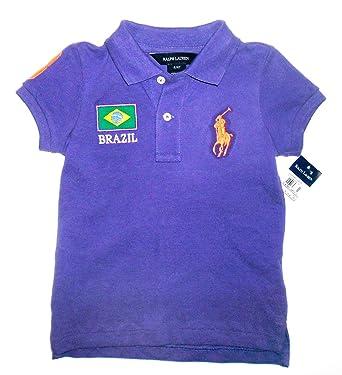 RALPH LAUREN morado de Brasil en un balón POLO T-Shirt a partir de ...