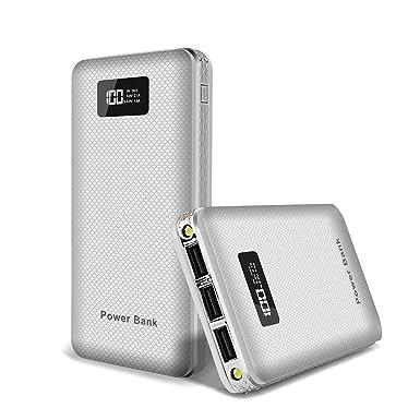 DCAE Cargador Portátil 20000mAh Power Bank con 3 USB 4.1A Salida, Batería Externa con Pantalla LED Digital Tecnología de Carga Inteligente para iPhone ...
