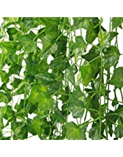 MARTHA&IVAN Artificial Ivy ¨CFake Ivy Garland Decorations,Fake Plants,Fake Vine,Vine Decoration for Wedding,Party, Garden, Home Decoration