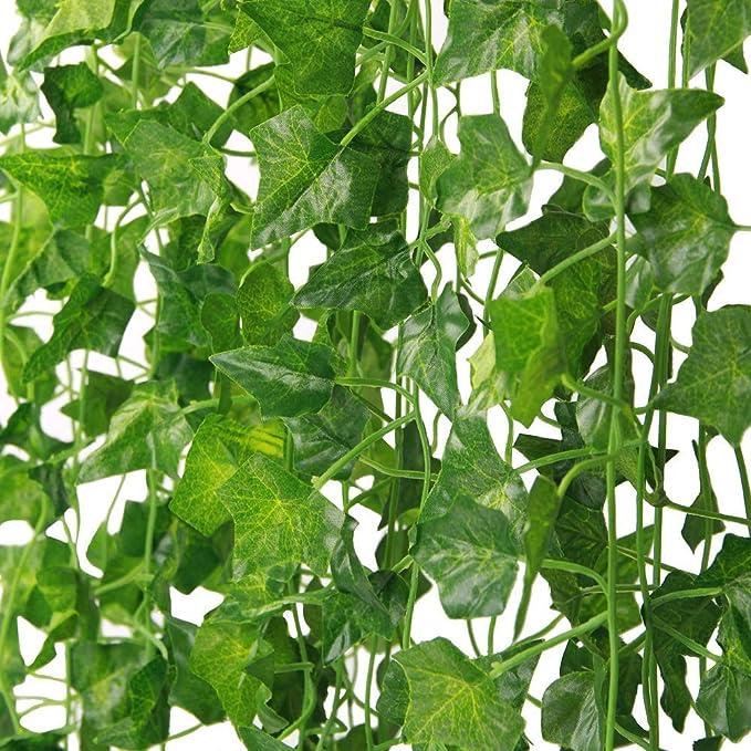 Martha & Ivan - Guirnalda de hiedra artificial para decoración de bodas, fiestas, jardín y hogar, plástico, Paquete de 14 hiedra, 14 Pack Ivy: Amazon.es: Hogar