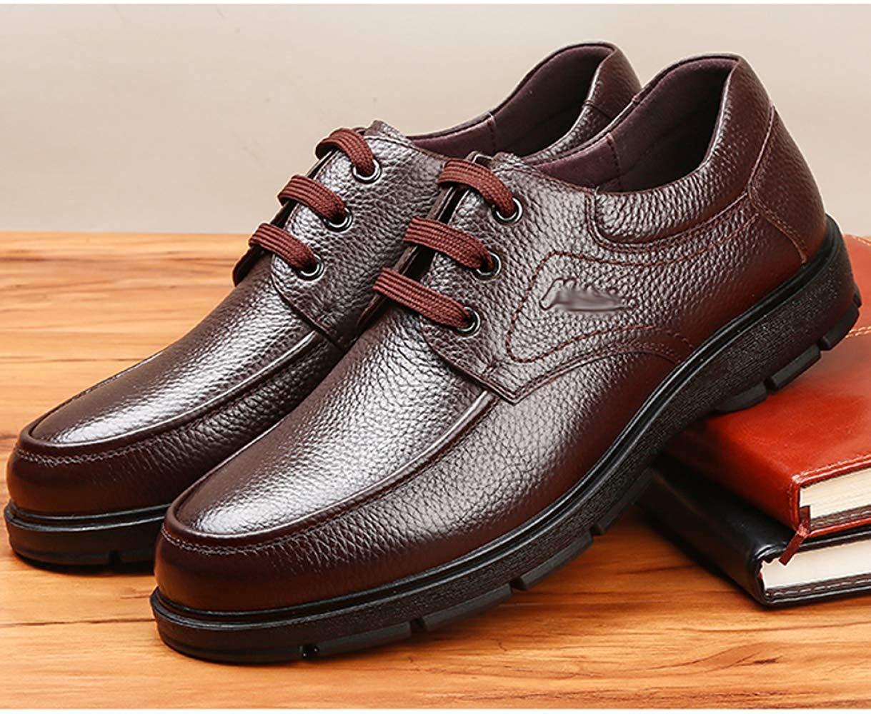 FuweiEncore FuweiEncore FuweiEncore Herren Schnürschuhe Oxford Business Casual Schuhe Komfortable Dämpfung (Farbe   Braun, Größe   43EU) aee51b