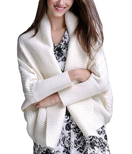 ELLAZHU mujeres de moda Turndown gran cuello de color puro chaqueta corta chaqueta de punto YY37 bla...