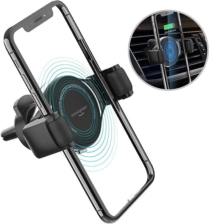 Xoopar Kfz Ladegerät Halterung Kabellos Starke Klemmung 10 W 7 5 W Qi Schnellladung Kompatibel Mit Iphone 11 Pro Xs Max Xr X 8 8 Plus Galaxy S10 S10 S9 S9 S8 S8 Note 9 8 Elektronik