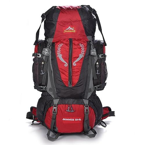 OSOPOLA Large 80+5L Hiking Camping Outdoor Sports Internal Frame Backpack Water Resistance Daypack Traveling Racksuck