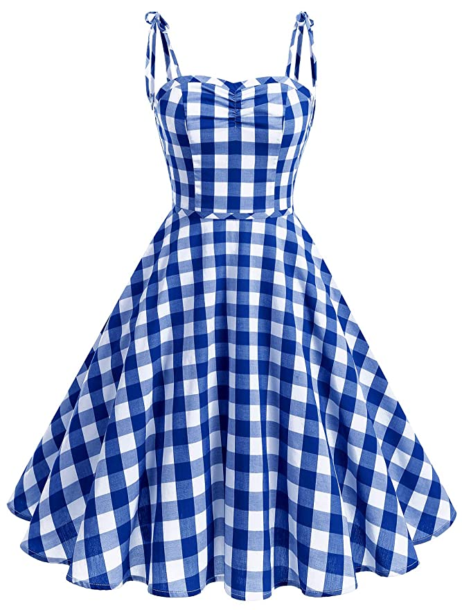 500 Vintage Style Dresses for Sale | Vintage Inspired Dresses Wedtrend Womens Vintage Polka Audrey Dress 1950s Retro Plaids Cocktail Dress $28.99 AT vintagedancer.com