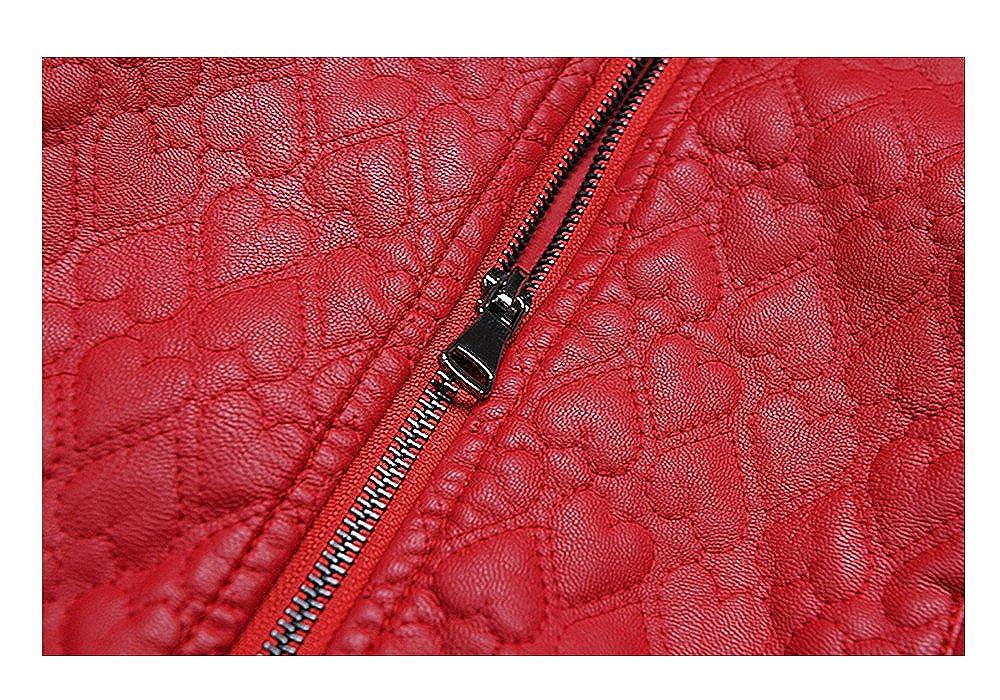 LJYH 2017 Autumn BoysGirls PU Leather Jacket LovingHeart Stitched Fashion Coat