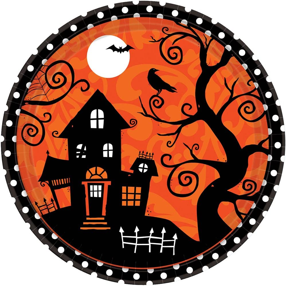 Haunted House Paper Plates