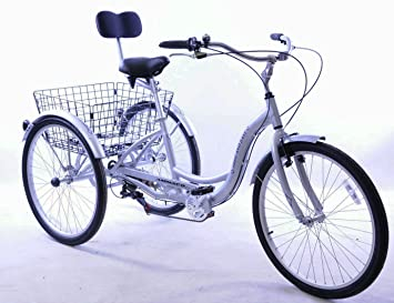 Lightweight three wheel adult tricycles