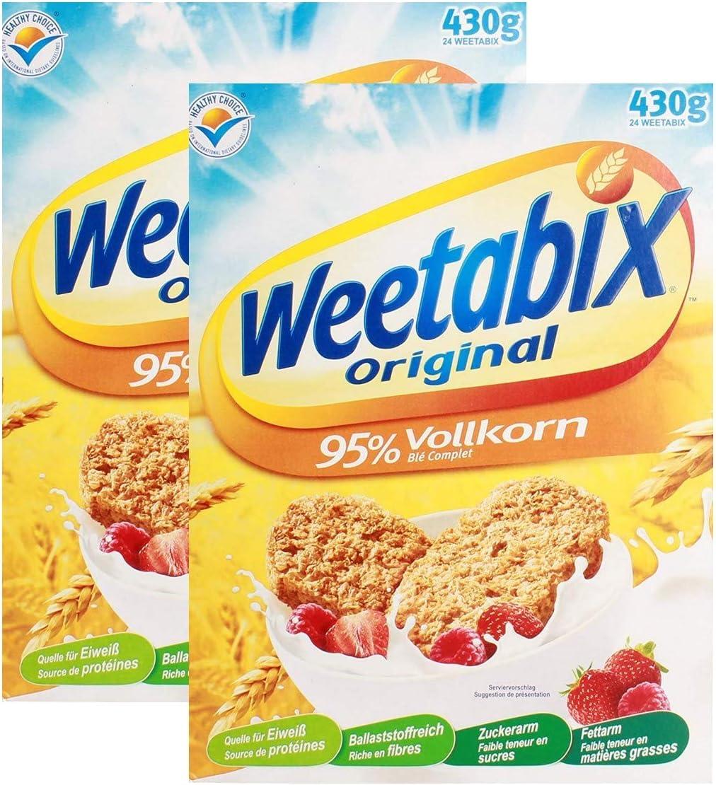 Weetabix Original Whole Grain - Cereales para el desayuno - Cereales integrales - Alto contenido de fibra, bajo azúcar, bajo contenido de grasa - ...