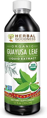 Guayusa Leaf Extract – Clean Energy Boost Drink – Brain Clarify Focus – Fat Burner Natural Caffeine – Coffee Alternative – Anti-Inflammatory – Organic, Non GMO, Kosher, 12 oz Bottle – Made in USA