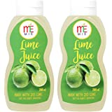 MIE Lime Juice Concentrate, 200ml (Pack of 2)