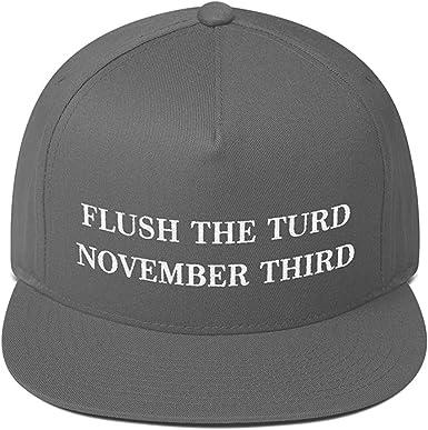 Anti Donald Trump Flush The Turd November Third Hat Embroidered Visor