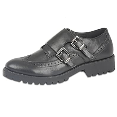 7bbd5b1abd76 Ladies Womens Real Leather Brogues Chunky Sole Work Shoes Girls School Shoe  Size (UK 7