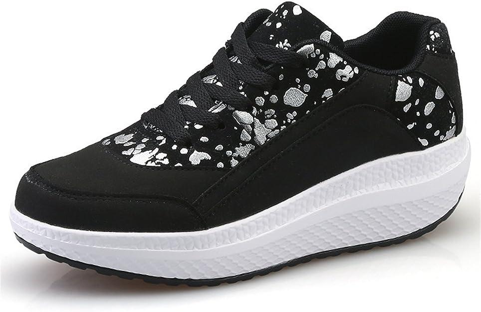Baqijian Swing Shoes for Women Height Increasing 4.5Cm Health Shaking Shoes Woman Flats Shoes