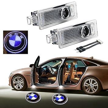luz l/áser de bienvenida 2 luces LED inal/ámbricas para puerta de coche con emblemas de fantasma para puerta de coche