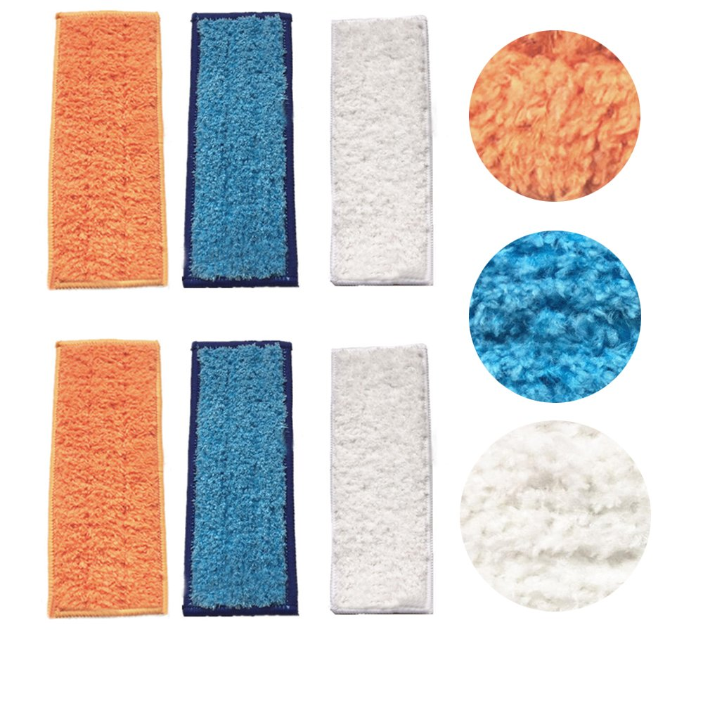ANBOO 6 Pack Washable Reusable Mopping Pads for iRobot Braava Jet 240 241 Spare Pads