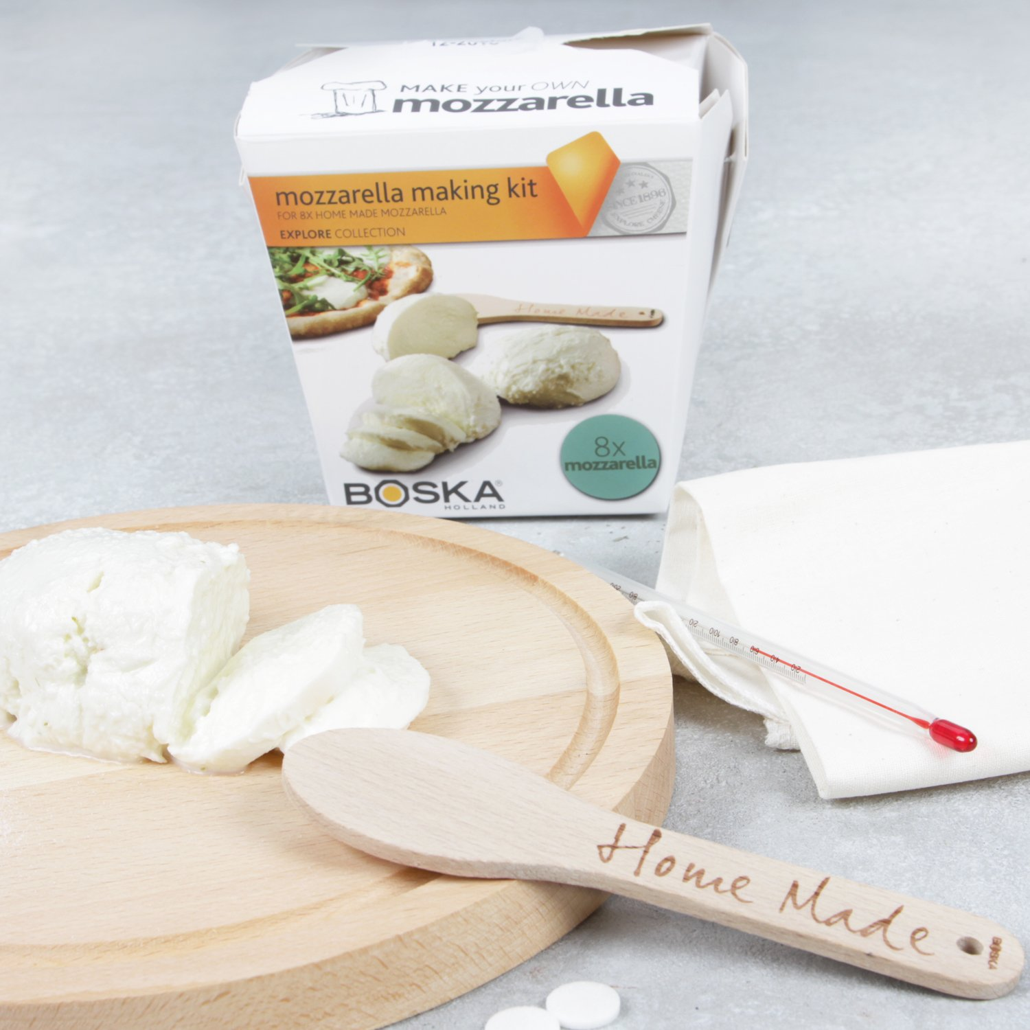 Boska Holland Mozzarella Cheese Making Kit, Homemade Set, Makes up to 8 Batches, Explore Collection by Boska Holland (Image #4)