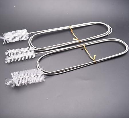 Nylon Schlauchbürste Rohrbürste Rohr Pinsel für Trinkrucksack Reinigung Weiß