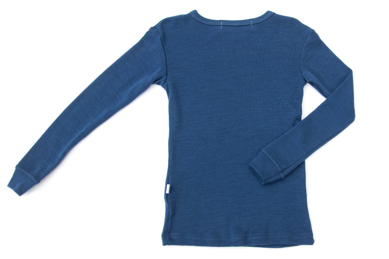 Pure Merino Wool Kids Thermal Top. Base layer Underwear Pajamas. BLUE 9-10 Yrs by Simply Merino (Image #6)