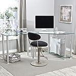 RTA Corner Computer Desk with Glass Top