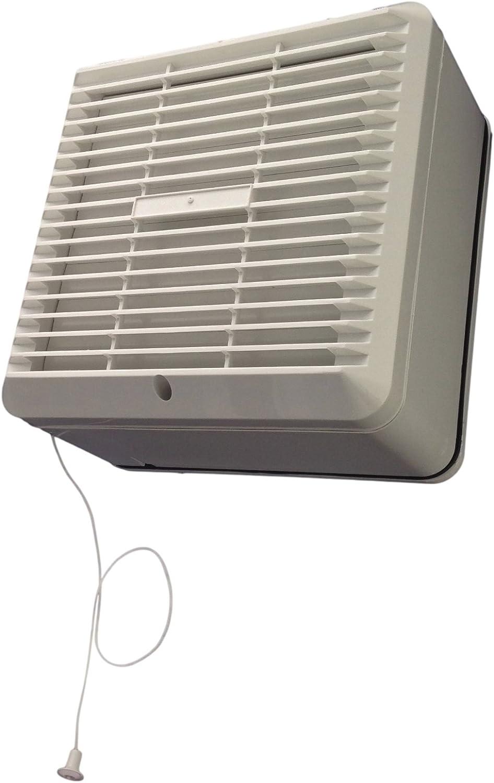 Manrose Primeline PEF6130 - Ventilador extractor de ventana con cordón y obturador automático