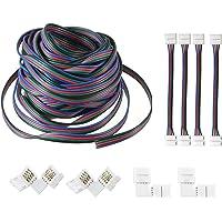 Omkrets 4 stift RGB förlängningskabel, 39 ft/12 m RGB ljusremsa anslutningskit för 3528 5050 RGB LED remsa ljus
