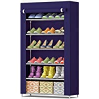 Kneex Shoe Racks for Home 6 Tiers Multi-Purpose Shoe Storage Organizer Cabinet Tower with Iron and Nonwoven Fabric with Zippered Dustproof Cover (Shoe Racks for Home)