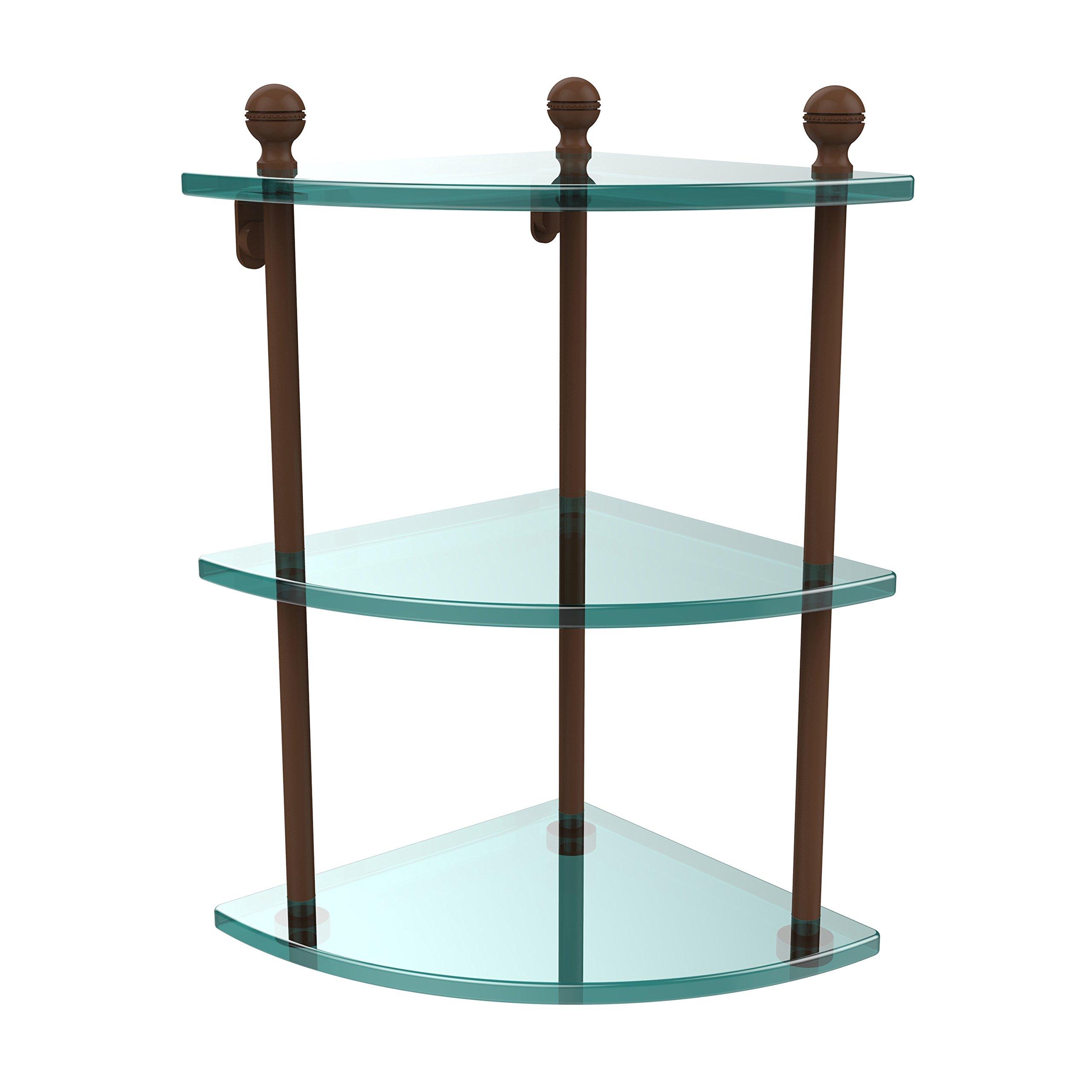 Allied Brass MA-6-ABZ Triple Corner Glass Shelf Antique Bronze by Allied Brass