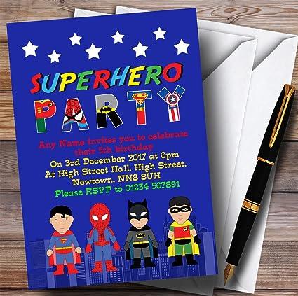 Azul horizonte superhéroe para niños fiesta de cumpleaños ...