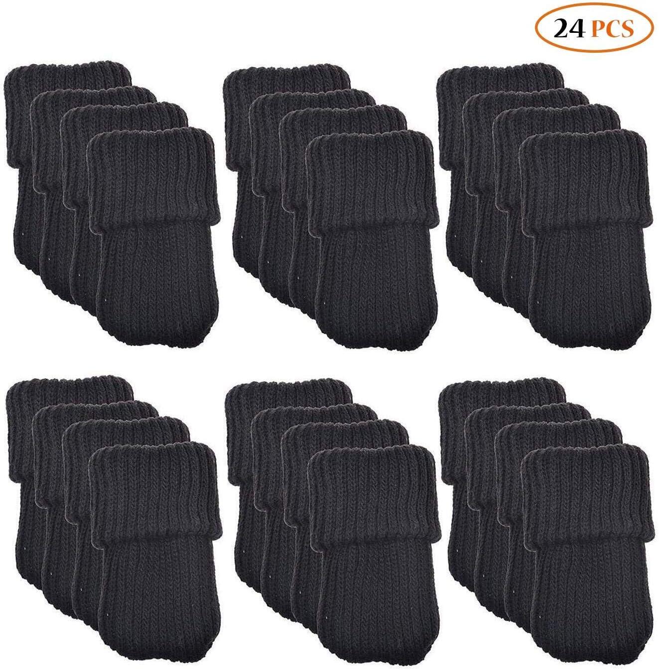 24/LED de muebles de lana para tejer calcetines//pata de la silla piso Protector color negro /¡