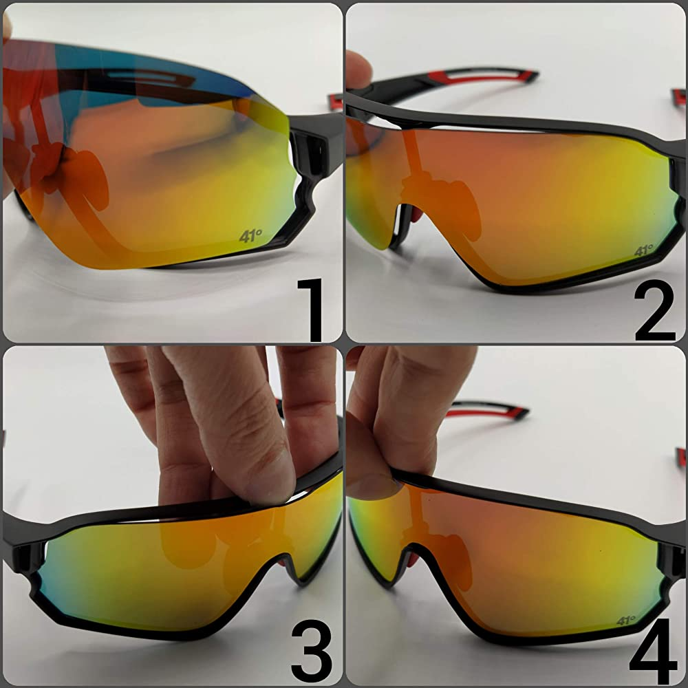 41degrees. Gafas de Sol Fotocromáticas con 2 Lentes Intercambiables. 2 en 1 Gafas de Ciclismo Polarizadas UV400 para Running, Esquí... Máscara Unisex Modelo Tramuntana: Amazon.es: Ropa y accesorios
