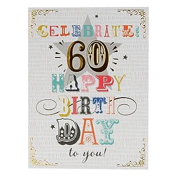 Amazon.com: Hallmark – Tarjeta de 60o cumpleaños ...