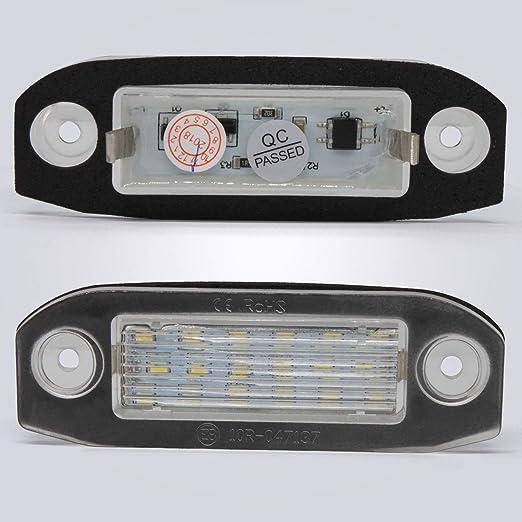 elegantstunning White LED License Number Plate Light Bulb for Volvo C30 C70 S80 V70 XC70