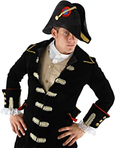 elope Admiral Bicorn Costume Hat for Men and Women Black
