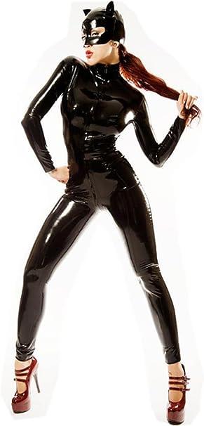 Disfraz erótico de Catwoman, de látex y cuero sintético, con ...