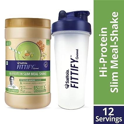 Saffola FITTIFY Gourmet Hi-Protein Slim Meal Shake - Alphonso