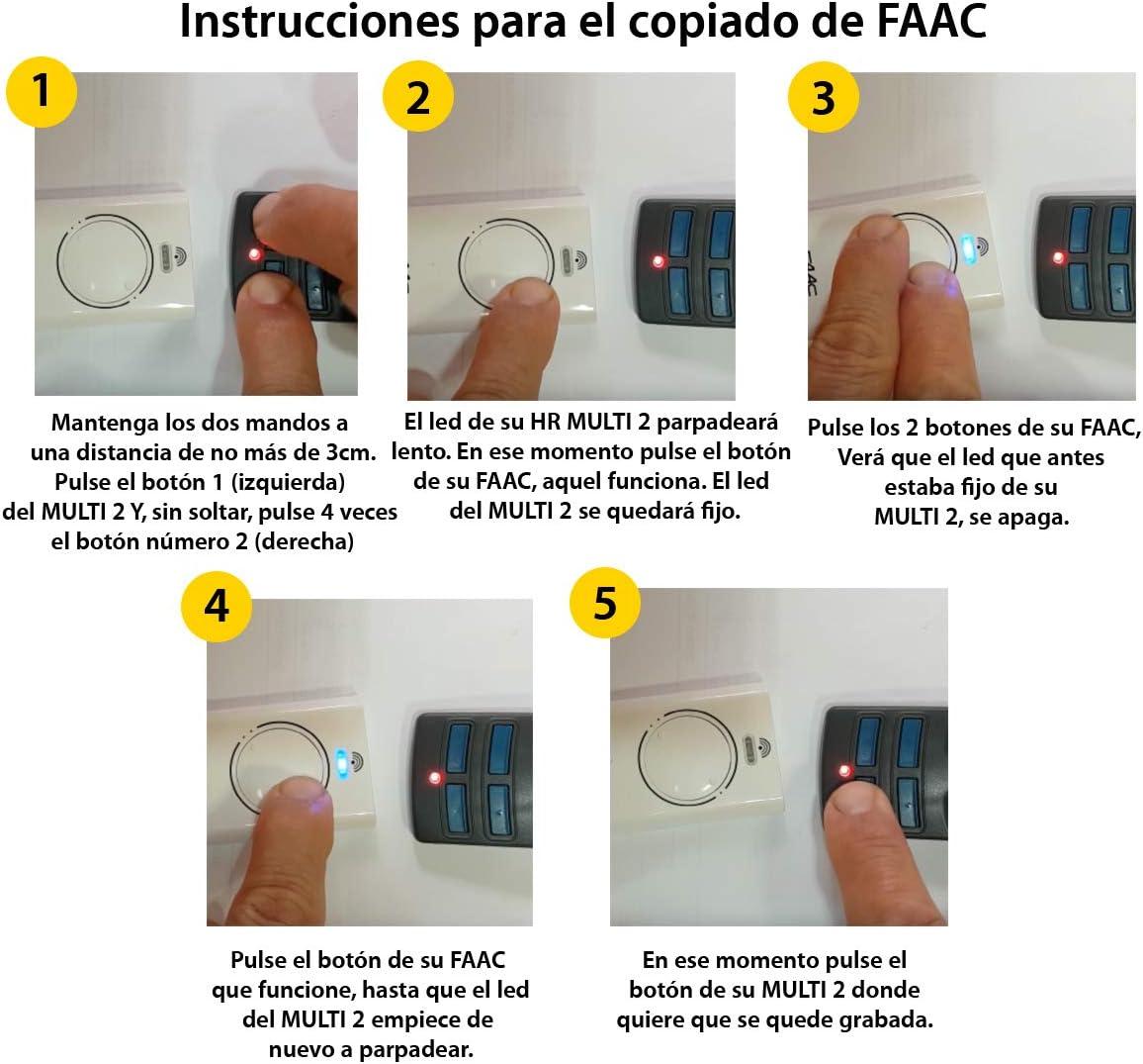 Instrucciones copiado de mando a distancia garaje