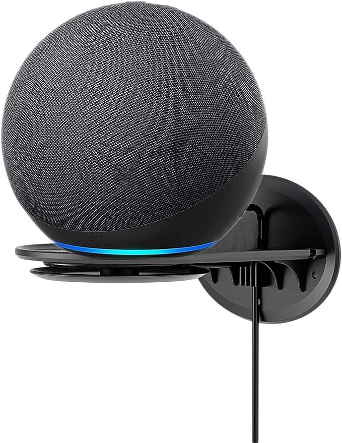 Kiner Multifunktion Wandhalterung f/ür Echo Dot 4 Halterung St/änder mit Alexa Smarter Lautsprecher Schwarz Generation