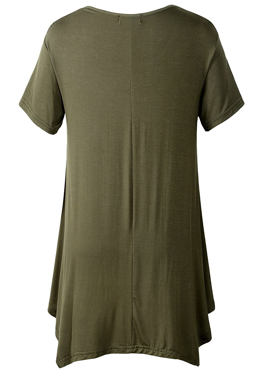 d7f23a8621c LARACE Womens Swing Tunic Tops Loose Fit Comfy Flattering T Shirt at Amazon  Women's Clothing store: