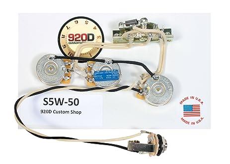 71vJ8PABLfL._SX463_ amazon com 920d custom shop fender strat 5 way wiring harness Stratocaster Wiring Kit at gsmx.co