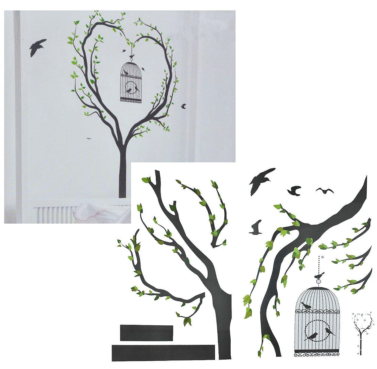 Bezaubernd Wandsticker Baum Sammlung Von Xxl Wandtattoo / Sticker - Vogelkäfig Mit