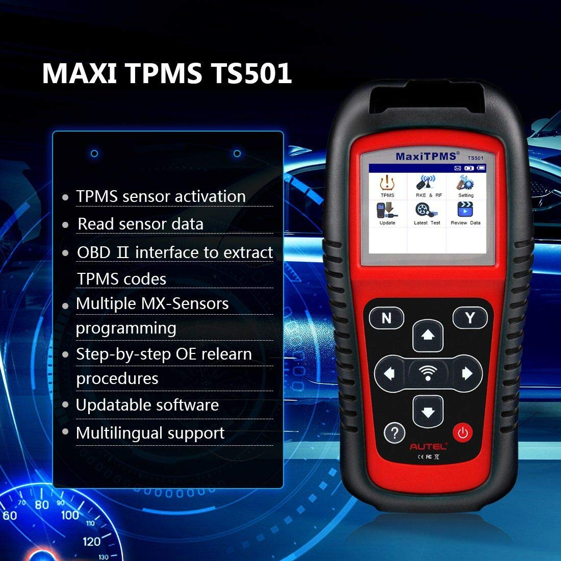 Check Tpms System >> Autel Maxitpms Ts501 Tpms Obd2 Activation Magnetic Tire