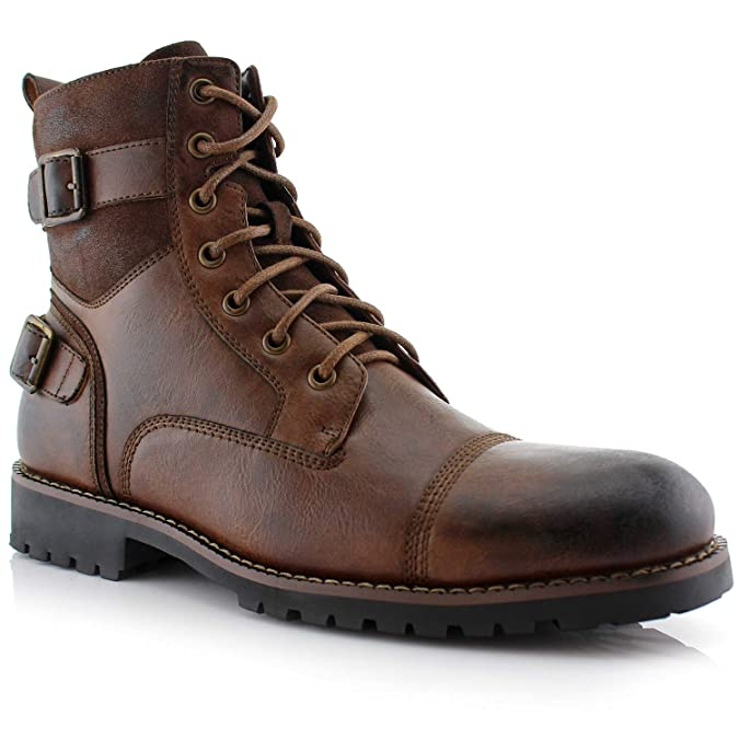 Steampunk Boots & Shoes, Heels & Flats Polar Fox Mens Patrick Combat Boot $49.99 AT vintagedancer.com