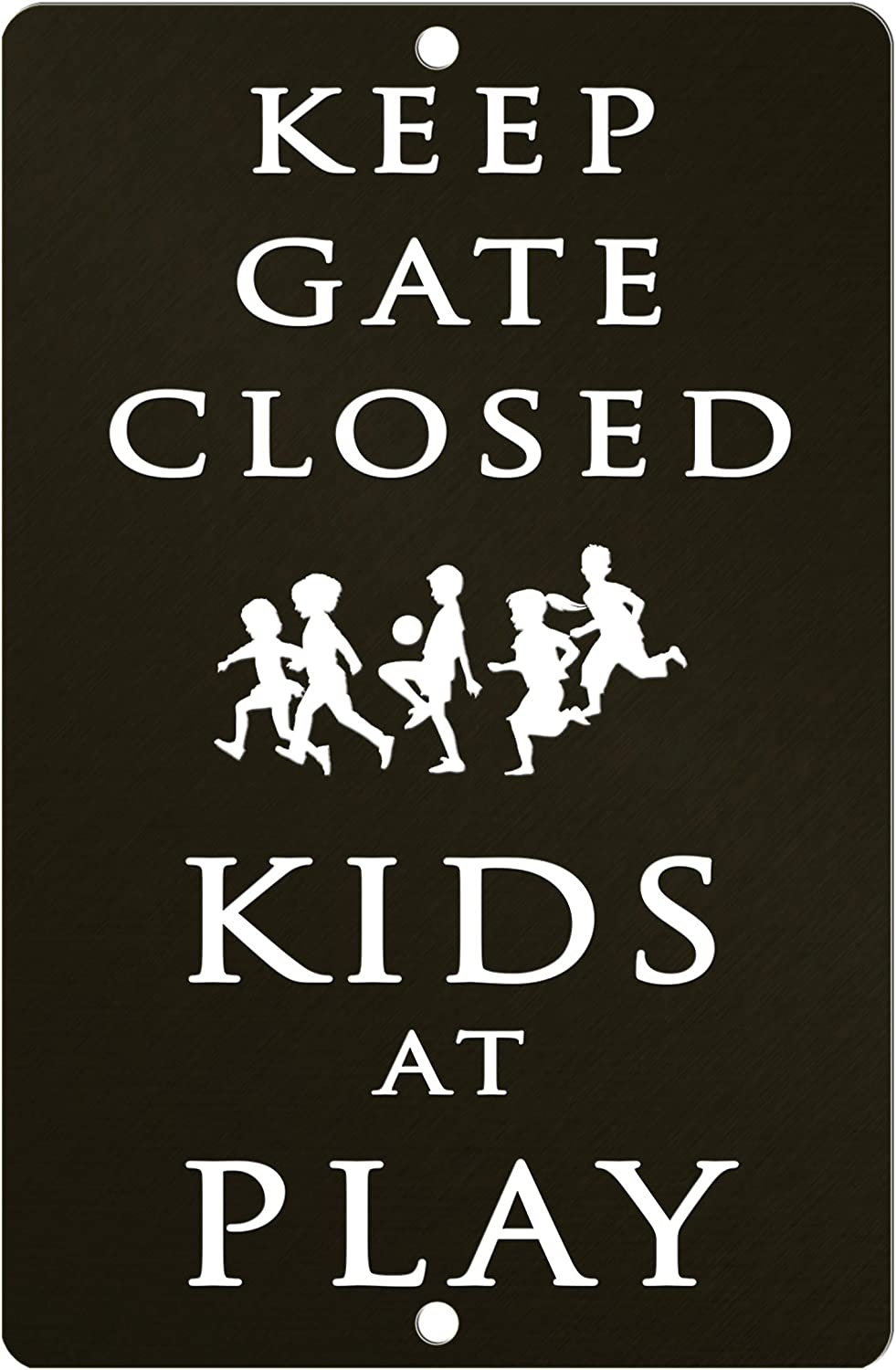 Keep Gate Closed Kids at Play - Decorative Novelty Indoor Outdoor Office Yard Fence Sign