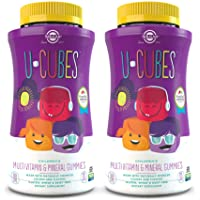 Solgar U-Cubes Children's Multi-Vitamin & Minerals, 120 Gummies - Pack of 2 - 3 Great-Tasting Flavors, Grape, Orange…