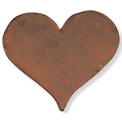 Heart Cast Iron Stepping Stone, 12-Inch : Outdoor Decorative Stones : Garden & Outdoor