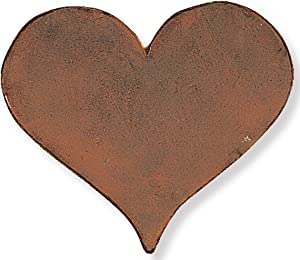 Heart Cast Iron Stepping Stone, 12-Inch